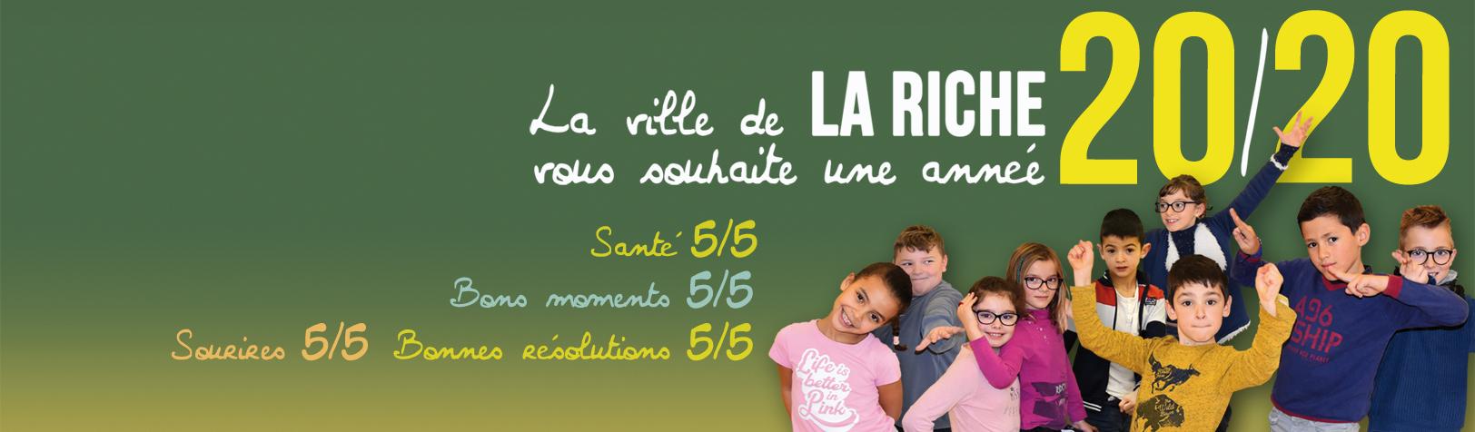 La ville de La Riche vous souhaite une année 20/20!